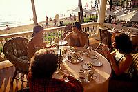 Women enjoying tea at the Moana Surfrider Hotel in Waikiki