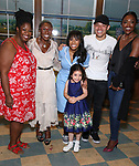 NaTasha Yvette Williams, Cynthia Erivo, Nicolette Robinson, Mariam Bedigian, Anthony Ramos and Patina Miller backstage after Nicolette Robinson makes her Broadway debut in 'Waitress' on September 4, 2081 at the Brooks Atkinson Theatre in New York City.