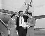 Greater Pittsburgh International Airport:  View of Fred Hutchinson, manager of the Cincinnati Reds, arriving at the airport for a game with the Pittsburgh Pirates.  The on-location photographic assignment was for United Airlines. The 1960 Cincinnati Reds finished in sixth place in the National League standings, 28 games behind the National League and World Series champion Pittsburgh Pirates!  The highlight for me in this set of images was of the one of Bob Purkey Sr.  I had the opportunity to know Bob Sr while playing high school baseball with his son, Bob Purkey Jr.  For many years, Bob Purkey Sr had a successful insurance business in Bethel Park Pa.
