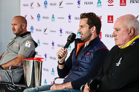 11th February 2021, Auckland, New Zealand;  INEOS Team UK Skipper Sir Ben Ainslie (England). PRADA Cup Final Opening press conference at the PRADA media centre, America's Cup Race Village, Halsey Wharf, Auckland on Thursday 11th February 2021.