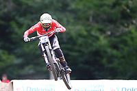 29th August 2021; Commezzadura, Trentino, Italy; 2021 Mountain Bike Cycling World Championships, Val di Sole; Downhill; Downhill final men, Andreas Kolb (AUT)