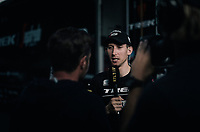 stage winner Bauke Mollema (NED/Trek-Segafredo) has plenty of interviews to do after returning to the team hotel<br /> <br /> 104th Tour de France 2017<br /> Stage 15 - Laissac-Sévérac l'Église › Le Puy-en-Velay (189km)