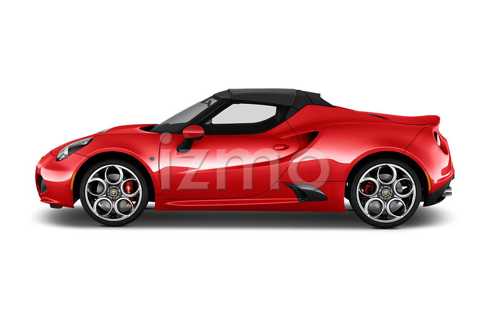 Car driver side profile view of a 2019 Alfa Romeo 4C Spider 2 Door Convertible