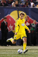 Columbus Crew defender Chad Marshall (14). The New York Red Bulls defeated the Columbus Crew 2-0 during a Major League Soccer match at Giants Stadium in East Rutherford, NJ, on April 5, 2008.
