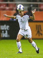 USA defender (3) Christie Rampone. The United States (USA) defeated Nigeria (NGA) 1-0 during their Group B first round game at Hongkou Stadium in Shanghai, China on September 18, 2007.