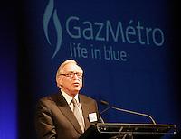 Robert Parizeau,<br /> president du conseil d'administration de Gaz MÈtro<br /> Assemblee Annuelle GAZ annual meeting<br /> Montreal, feb 2 , 2006