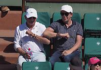 Stephane Plaza et son pere<br /> day 12<br /> Roland Garros 2017