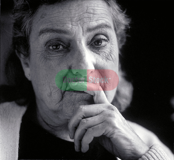 portrait of thoughtful elder woman