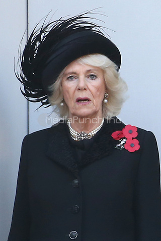 ***NO UK*** REF: MTX 193994 - Camilla, Duchess of Cornwall attends the annual Remembrance Sunday memorial at The Cenotaph in London, England.  NOVEMBER 10th 2019. Credit: Trevor Adams/Matrix/MediaPunch