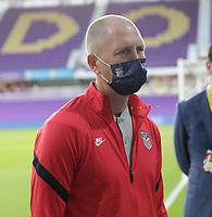 ORLANDO CITY, FL - JANUARY 31: Gregg Berhalter head coach of USA before a game between Trinidad and Tobago and USMNT at Exploria stadium on January 31, 2021 in Orlando City, Florida.