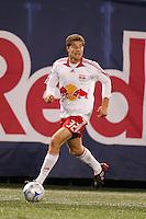 New York Red Bulls midfielder Luke Sassano. The New York Red Bulls defeated the Columbus Crew 2-0 during a Major League Soccer match at Giants Stadium in East Rutherford, NJ, on April 5, 2008.
