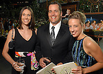 From left: Laurie and Bill Goren with Shawn Bertani at the Astros Wives Gala at Minute Maid Park Thursday July 31,2008. (Dave Rossman/For the Chronicle)