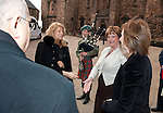 Fiona Hyslop, Cabient Secretary for Culture and External Affairs greets Her Excellency Mrs. Inaam Osseiran (Lebanese Embassy) on his arrival at Edinburgh Castle for a reception and dinner hosted by Alex Salmond First Minister of Scotland..Pic Kenny Smith, Kenny Smith Photography.6 Bluebell Grove, Kelty, Fife, KY4 0GX .Tel 07809 450119,