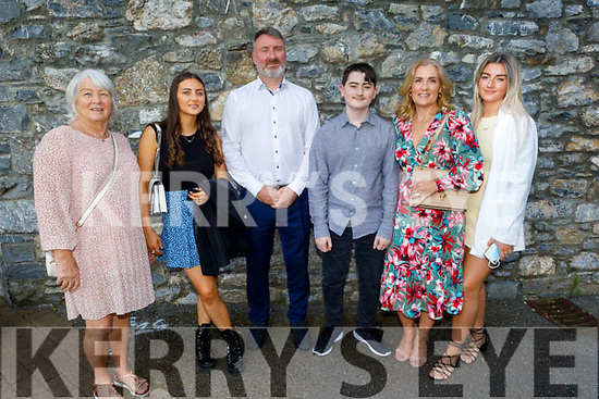Alex Gaudino former student of CBS NS receiving his Confirmation in St Johns Church, Tralee on Sunday. L to r: Catherine, Sasha, Giovanna, Alex, Deirdre and Chloe Gaudino.