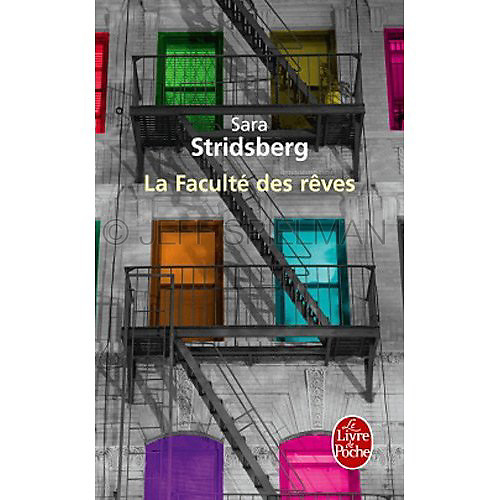 La Faculte des reves<br /> A novel by Sara Stridsberg<br /> <br /> Published March 2011<br /> Publisher - Le Livre de Poche, France<br /> <br /> Photo of a New York City tenement apartment building at night available for licensing from plainpicture.  Please go to www.plainpicture.com and search for image # p5690180