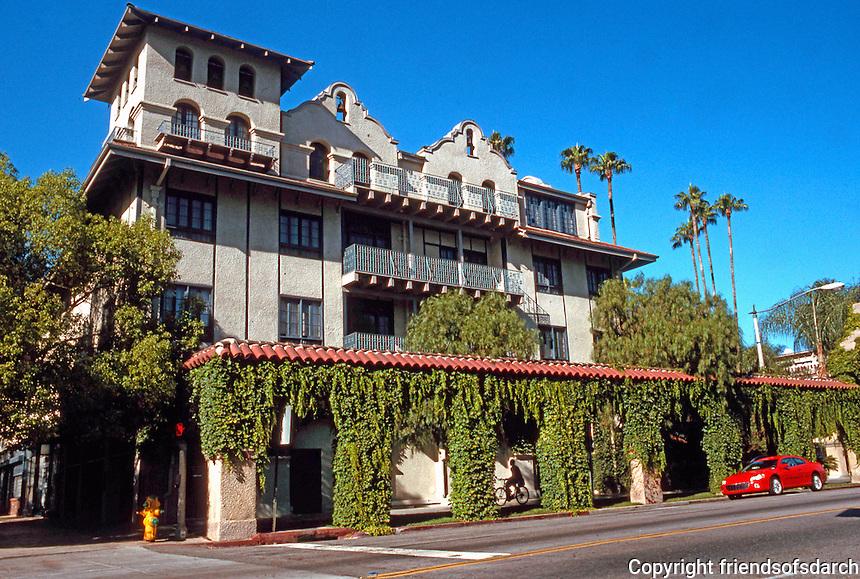 Riverside CA: Glenwood Mission Inn,  1902-1931. South-7th St.-Facade. Photo '82.