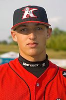 Trayce Thompson #24 of the Kannapolis Intimidators at Fieldcrest Cannon Stadium May 12, 2010, in Kannapolis, North Carolina.  Photo by Brian Westerholt / Four Seam Images