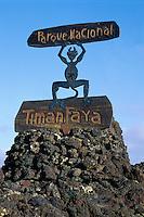 Spanien, Kanarische Inseln, Lanzarote, Timanfaya Nationalpark, Eingang zum Park