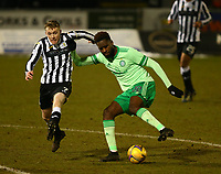10th February 2021; St Mirren Park, Paisley, Renfrewshire, Scotland; Scottish Premiership Football, St Mirren versus Celtic; Odsonne Edouard of Celtic cuts back and takes on Jake Doyle-Hayes of St Mirren