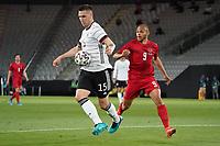 Niklas Süle (Deutschland Germany) klaert gegen Martin Braithwaite (Dänemark, Denmark) - Innsbruck 02.06.2021: Deutschland vs. Daenemark, Tivoli Stadion Innsbruck