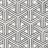 Y Weave, a stone waterjet mosaic, show in honed Dolomite, Carrara, and Saint Laurent, is part of the Miraflores Collection by Paul Schatz for New Ravenna.