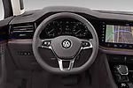 Car pictures of steering wheel view of a 2019 Volkswagen Touareg Business-Atmosphere 5 Door SUV Steering Wheel