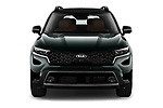 Car photography straight front view of a 2021 KIA Sorento SX 5 Door SUV Front View