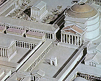 Model of exterior view of the Pantheon in Ancient Rome