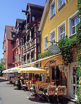 DEU, Deutschland, Baden-Wuerttemberg, Bodensee, Meersburg: Strassencafes in der Unterstadt | DEU, Germany, Baden-Wuerttemberg, Lake Constance, Meersburg: cafes at Down Town