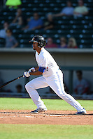 Mesa Solar Sox outfielder Dalton Pompey (6) during an Arizona Fall League game against the Surprise Saguaros on October 17, 2014 at Cubs Park in Mesa, Arizona.  Mesa defeated Mesa 5-3.  (Mike Janes/Four Seam Images)