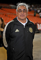 Mexico head coach Leonardo Cuellar. The USWNT defeated Mexico 7-0 during an international friendly, at RFK Stadium, Tuesday September 3, 2013.
