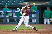 Drew Mendoza (22) of the Florida State Seminoles at bat against the Notre Dame Fighting Irish in Game Four of the 2017 ACC Baseball Championship at Louisville Slugger Field on May 24, 2017 in Louisville, Kentucky. The Seminoles walked-off the Fighting Irish 5-3 in 12 innings. (Brian Westerholt/Four Seam Images)