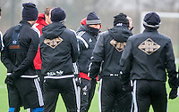 Thursday  21 January 2016<br />Pictured: Swansea Head Coach Francesco Guidolin leads the training session at Fairwood  <br />Re: Swansea City Training Session at the Fairwood training ground
