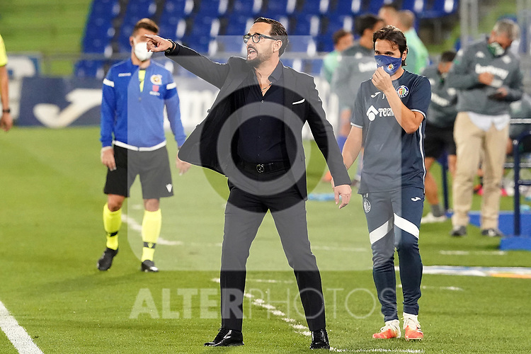 Getafe CF's coach Jose Bordalas during La Liga match. September 29,2020. (ALTERPHOTOS/Acero)