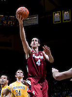 STANFORD, CA - January 29th, 2012: Stefan Nastic of Stanford shoots the ball during a basketball game against California at Haas Pavilion in Berkeley, California.   California won 69-59 against Stanford.