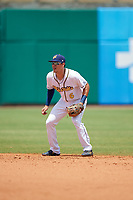 Montgomery Biscuits second baseman Tristan Gray (6) during a Southern League game against the Mobile BayBears on May 2, 2019 at Riverwalk Stadium in Montgomery, Alabama.  Mobile defeated Montgomery 3-1.  (Mike Janes/Four Seam Images)