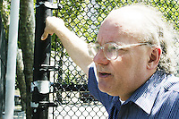 "Ron Grunberg, editor of the newspaper ""BigNews"" (written for and sometimes by homeless people) oversees a practice of the United States Homeless World Cup soccer team July 7, 2004."