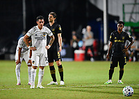 LAKE BUENA VISTA, FL - JULY 18: Cristian Pavón #10 of LA Galaxy prepares to take a penalty shot during a game between Los Angeles Galaxy and Los Angeles FC at ESPN Wide World of Sports on July 18, 2020 in Lake Buena Vista, Florida.