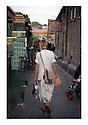 English Hari Krishna Monk shopping at Camden Lock Market