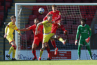 Hector Kyprianou of Leyton Orient heads  clear during Leyton Orient vs Walsall, Sky Bet EFL League 2 Football at The Breyer Group Stadium on 5th April 2021