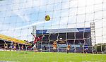 27.09.2020 Motherwell v Rangers:  Cedric Itten scores goal no 4 for Rangers past Trevor Carson in goals