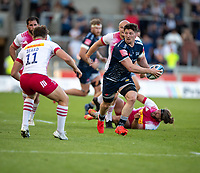 4th June 2021; AJ Bell Stadium, Salford, Lancashire, England; English Premiership Rugby, Sale Sharks versus Harlequins;  Ben Curry of Sale Sharks runs with the ball