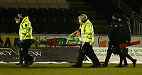 10th February 2021; St Mirren Park, Paisley, Renfrewshire, Scotland; Scottish Premiership Football, St Mirren versus Celtic; Stephen Welsh of Celtic is stretchered off for an injury