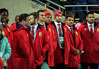 The non-playing contingent of Lions watches the 2017 DHL Lions Series rugby match between the Hurricanes and British & Irish Lions at Westpac Stadium in Wellington, New Zealand on Tuesday, 27 June 2017. Photo: Dave Lintott / lintottphoto.co.nz