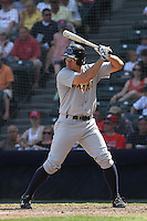 Trenton Thunder outfielder Cody Johnson #44 at bat during a game against the Richmond Flying Squirrels at The Diamond on May 27, 2012 in Richmond, Virginia. Richmond defeated Trenton by the score of 5-2. (Robert Gurganus/Four Seam Images)