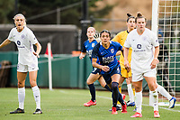 TACOMA, WA - JULY 31: Alana Cook #4 of the OL Reign looks on during a game between Racing Louisville FC and OL Reign at Cheney Stadium on July 31, 2021 in Tacoma, Washington.