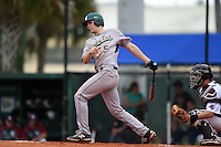 Slippery Rock Ty Zimmerman (5) during a game against the University of the Sciences Devils on March 6, 2015 at Jack Russell Field in Clearwater, Florida.  Slippery Rock defeated University of the Sciences 6-3.  (Mike Janes/Four Seam Images)