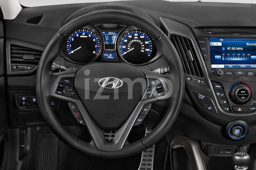 Car pictures of steering wheel view of a2015 Hyundai Veloster Turbo 3 Door Hatchback Steering Wheel