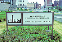 Albany: Empire State Plaza site sign. Photo '88.