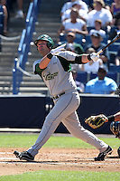 USF Bulls first baseman Todd Brazeal #33 at bat during a scrimmage against the New York Yankees at Steinbrenner Field on March 2, 2012 in Tampa, Florida.  New York defeated South Florida 11-0.  (Mike Janes/Four Seam Images)